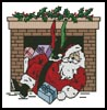 Santa Chimney - Cross Stitch Chart