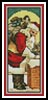 Santa with Chimney Bookmark - Cross Stitch Chart