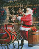 Santa Feeding the Reindeer - Cross Stitch Chart