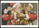 Santa Holding Presents - Cross Stitch Chart