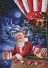 Santa in a Hot Air Balloon - Cross Stitch Chart