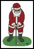 Santa Playing Golf - Cross Stitch Chart