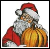 Santa Pumpkin - Cross Stitch Chart