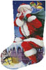 Santa's Here Stocking (Left) - Cross Stitch Chart