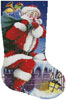 Santa's Here Stocking (Right) - Cross Stitch Chart