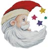 Santa Star - Cross Stitch Chart