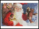 Santa with Presents - Cross Stitch Chart