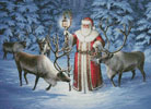 Santa With Reindeer - Cross Stitch Chart