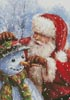 Santa with Snowman - Cross Stitch Chart