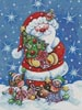 Santa with Tree - Cross Stitch Chart