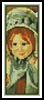 Sara in a Green Bonnet Bookmark - Cross Stitch Chart