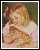 Sara holding a Cat - Cross Stitch Chart