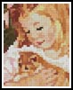 Sarah holding a Cat Card - Cross Stitch Chart