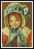 Sara in a Green Bonnet - Cross Stitch Chart