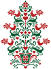 Scandinavian Christmas Tree - Cross Stitch Chart