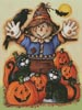Scarecrow's Halloween Pumpkin Patch - Cross Stitch Chart