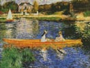 The Seine at Asnieres - Cross Stitch Chart