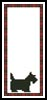 Scotty Dog Bookmark - Cross Stitch Chart
