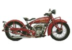 1928 Indian 101 Scout - Cross Stitch Chart