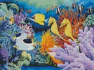 Seahorse and Fish - Cross Stitch Chart