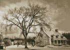 Sepia House in Winter - Cross Stitch Chart