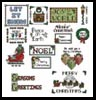 Sew Little Stitches Christmas Collection 2 (Large)- Cross Stitch