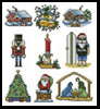 Sew Little Stitches Christmas Collection 3 (Large)- Cross Stitch