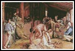 Shearing the Rams - Cross Stitch Chart