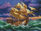 Ship in Storm - Cross Stitch Chart