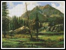 Sierra Nevada Mountains - Cross Stitch Chart