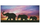 Silhouettes of Elephants against Sunset - Cross Stitch Chart