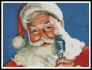 Singing Santa - Cross Stitch Chart