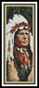Sioux Chief Bookmark - Cross Stitch Chart