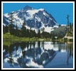 Snow Capped Mountains - Cross Stitch Chart