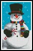 Snowman 2 - Cross Stitch Chart