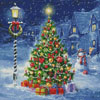 Snowman and Christmas Tree - Cross Stitch Chart