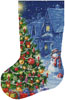 Snowman and Christmas Tree Stocking (Left) - Cross Stitch Chart