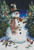 Snowman and Feathered Friends - Cross Stitch Chart