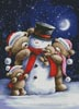 Snowman and Teddies - Cross Stitch Chart