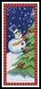 Snow Man Bookmark - Cross Stitch Chart