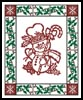 Snowman Border - Cross Stitch Chart