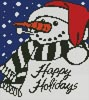Snowman Greeting - Cross Stitch Chart