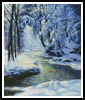 Snowy Landscape with Brook - Cross Stitch Chart