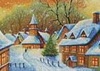 Snowy Village - Cross Stitch Chart
