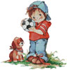 Soccer Boy - Cross Stitch Chart