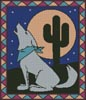 Southwest Coyote - Cross Stitch Chart