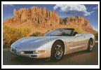 Sports Car with Mountains - Cross Stitch Chart