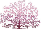 Spring Tree Silhouette - Cross Stitch Chart