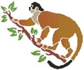 Squirrel Monkey - Cross Stitch Chart
