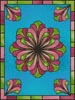 Stained Glass Floral 2 - Cross Stitch Chart
